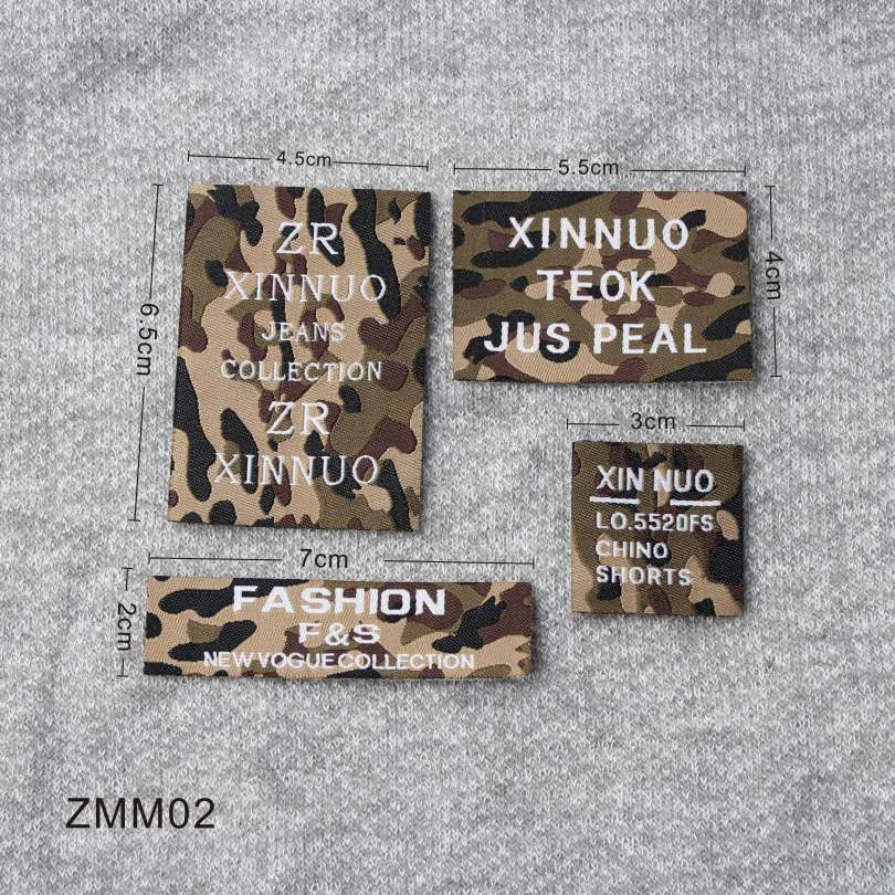 4 Style Woven Label With Popular Design