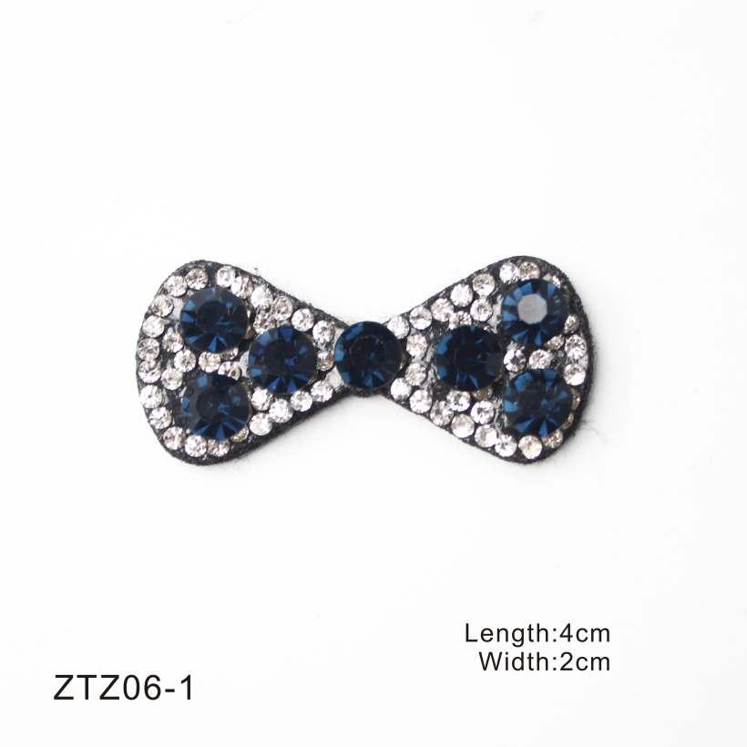 4 Style Hand Sewing Bowknot Crystal Rhinestone Design Diamond Ornaments