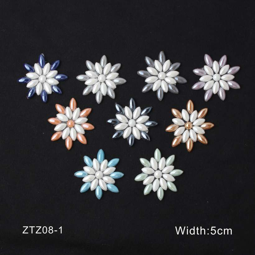 15 Style Geometry Flowers High Temperature Hot Resin Rhinestone Accessory