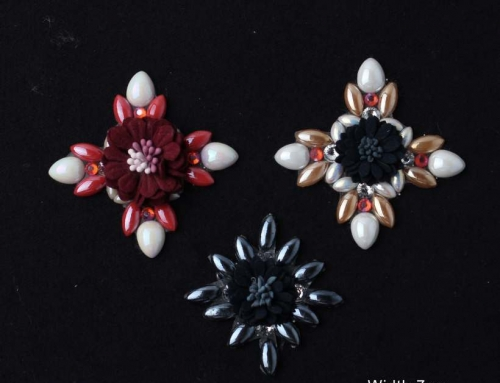6 Style Geometry Bee Flowers Design With Hot Resin Rhinestone