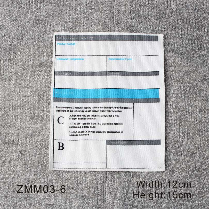 6 Style Woven Label With Special Design