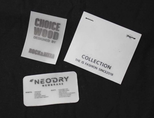 3 Simple Fashion Letter Printed Leather Labels
