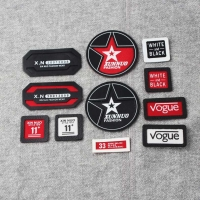 11 Different Shape Hand-Made Letter Printed Leather Labels
