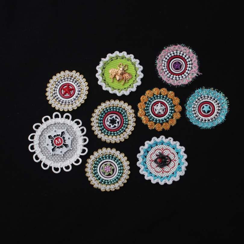 9 Different Style Bead Appliques With Unique Design