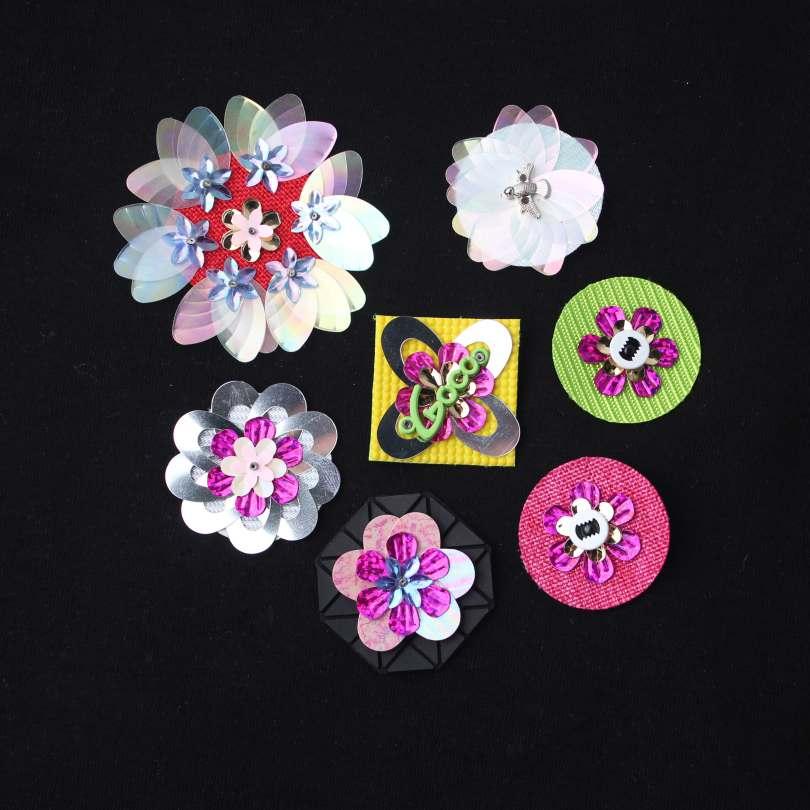 13 Style Different Flower Shape Appliques With Unique Design