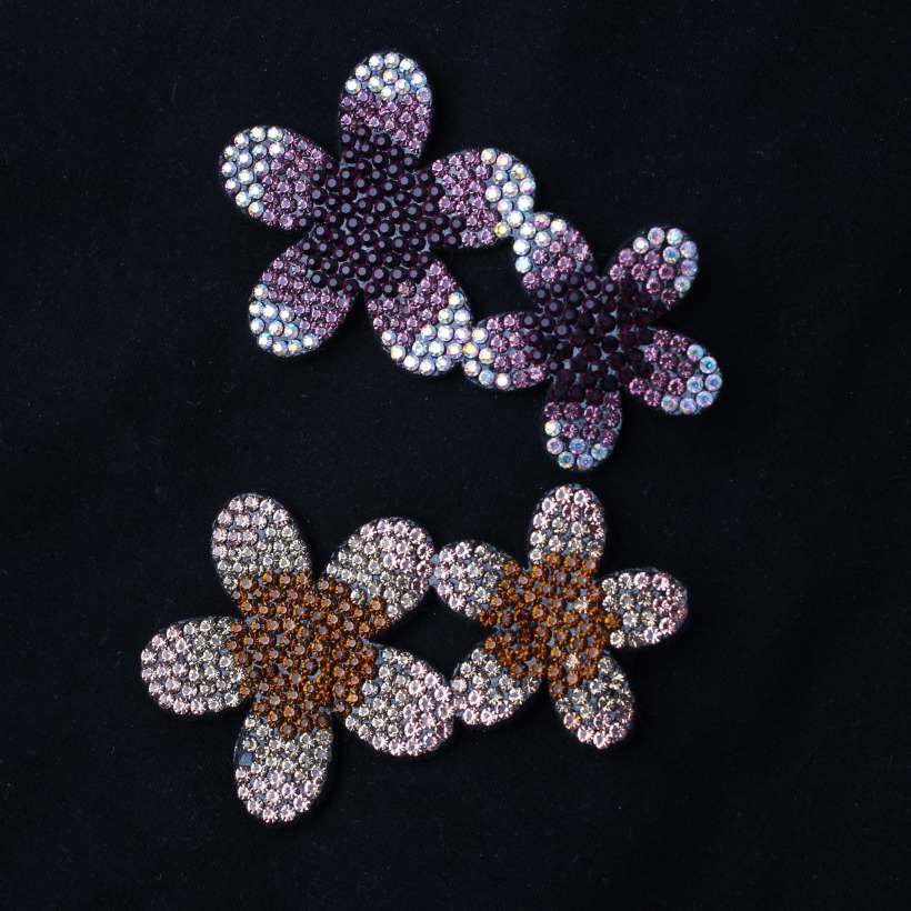 3 Style Hand Sewing flower Leaves Crystal Rhinestone Design