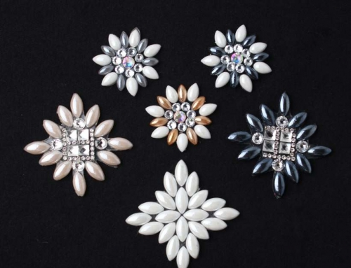 13 Style Geometry Flowers Hot Resin Rhinestone Accessory