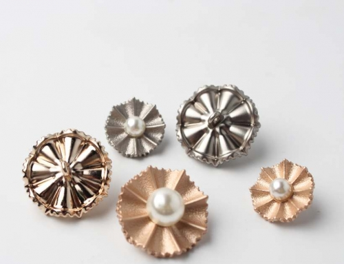 10 Style High-End Electroplating Hardware Pearl Hand Sewing Buttons