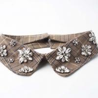Lattice Decoration Rhinestone Nail Bead Fake Collar Clothing Accessories