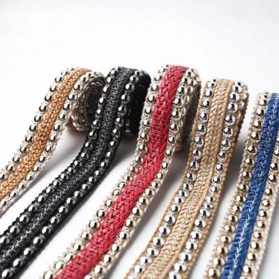 8 Style Metal Sequin Braid Decorative Webbing