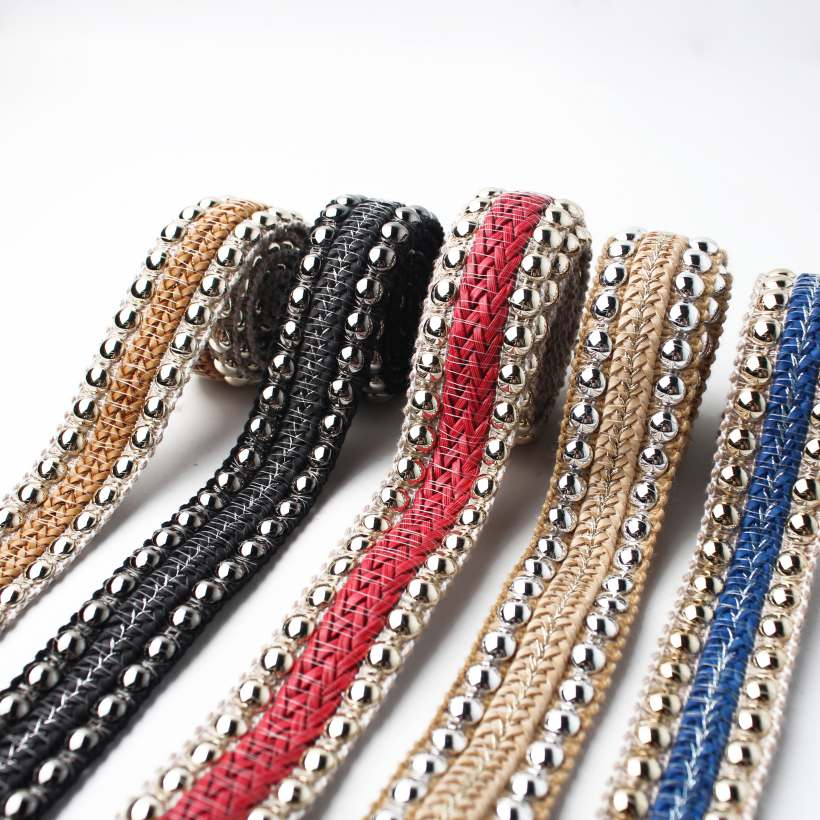 8 Style Metal Sequin Braid Decorative Webbing