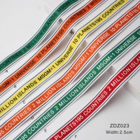 Yarn-dyed printing multicolored decorative ribbon