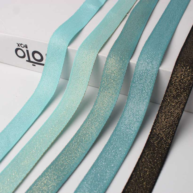 Tinsel Colored Twill Tape Webbing
