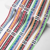 Yarn Dyed English Alphabet Multi-Color Ribbon
