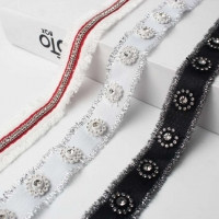 Rhinestones Decorated With Silvery Edge Webbing