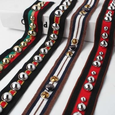 Knitted Rivet Decorative Webbing