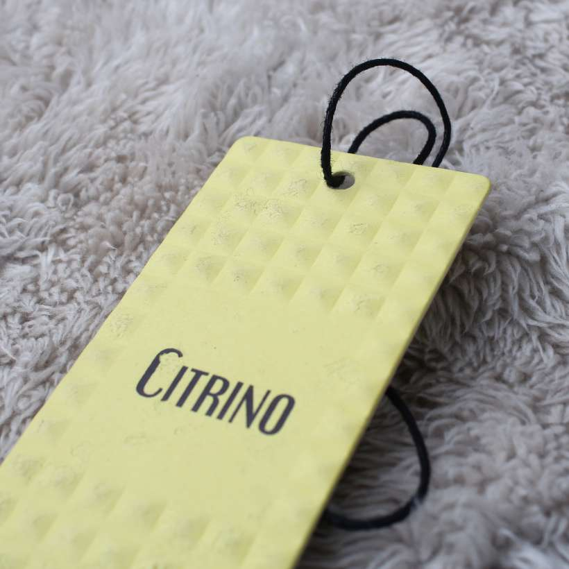 high end apparel swing tags