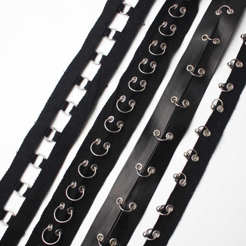 Punk Style Metal Embellishments Ribbon