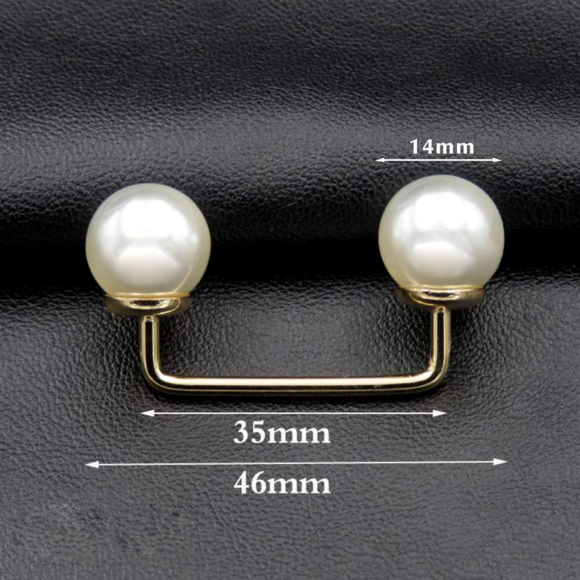 pearl inlaid garment metal plate