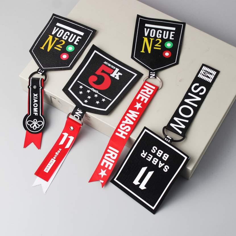 Wonderful Design Plastic Letter Printed Webbing Decorative Pendant
