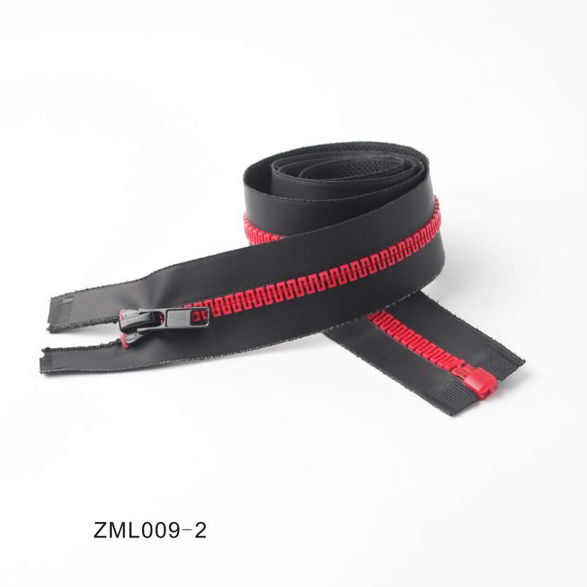 Resin Waterproof Cotter Zipper, OEM/ODM Support
