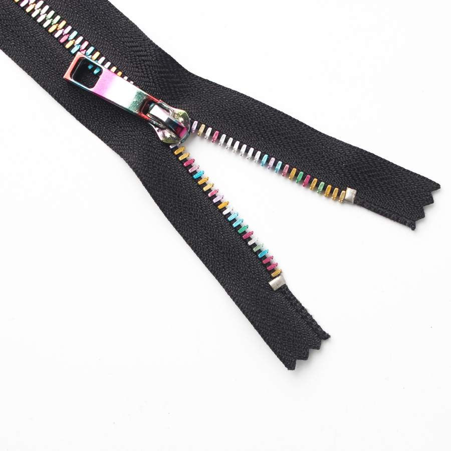 color closed end zipper