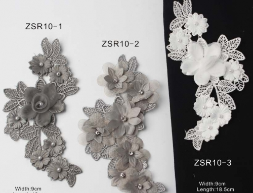 5 Style Very Vivid Flower Appliques With Rhinestones To Empower Your Design