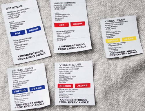 6 Style Woven Label With Wonderful Design