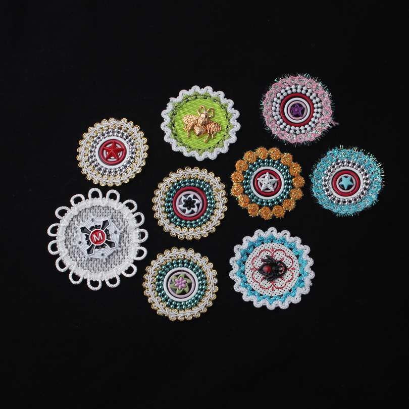 9 Different Style Bead Appliques With Unique Design