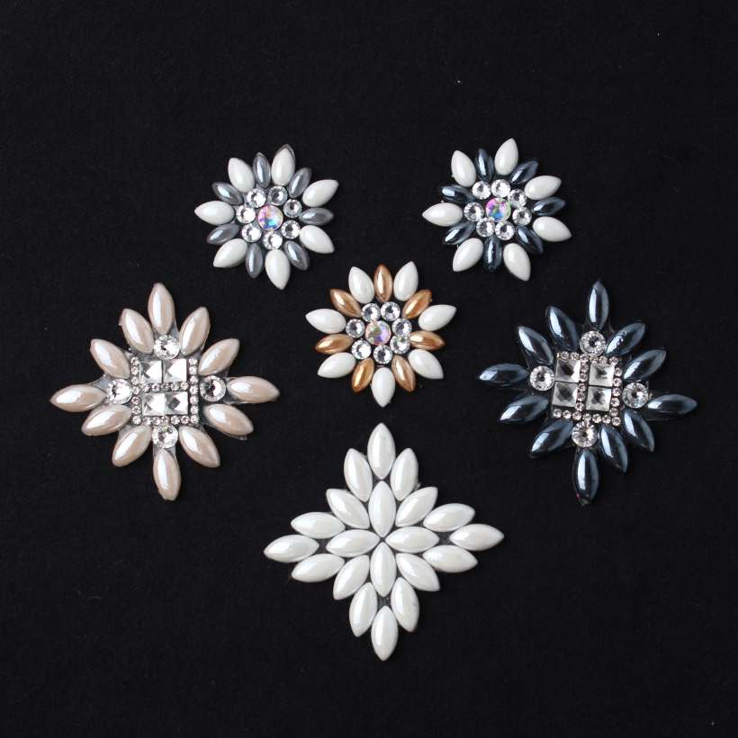 Geometry Flowers High Temperature Hot Resin Rhinestone Accessory