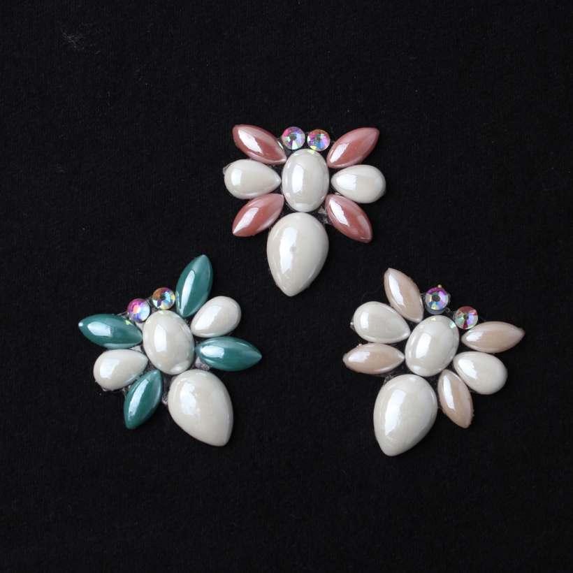 6 Style Geometry Bee Flowers Design With Hot Resin Rhinestone