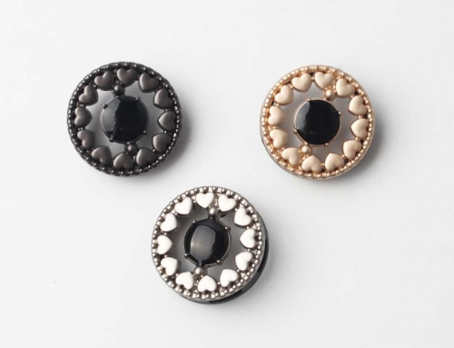 3 Style Heart Shape Double Layer Hardware Hand Sewing Buttons