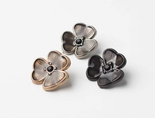6 Style Very Unique Vivid Flower Design Hand Sewing Buttons Hardware Accessory