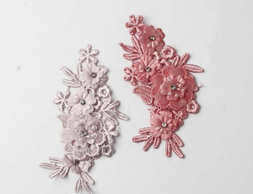 6 Style Very Vivid Result Flower Design Embroidery Appliques