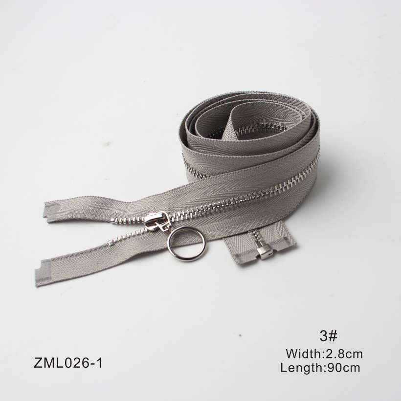 9 Design #3 White Copper Teeth Color Zippers