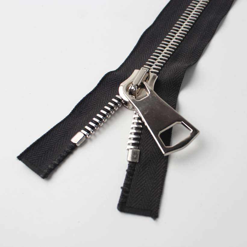 2 Unique Design Delicate Zipper With Copper Teeth, OEM/ODM Support Metal Zippers