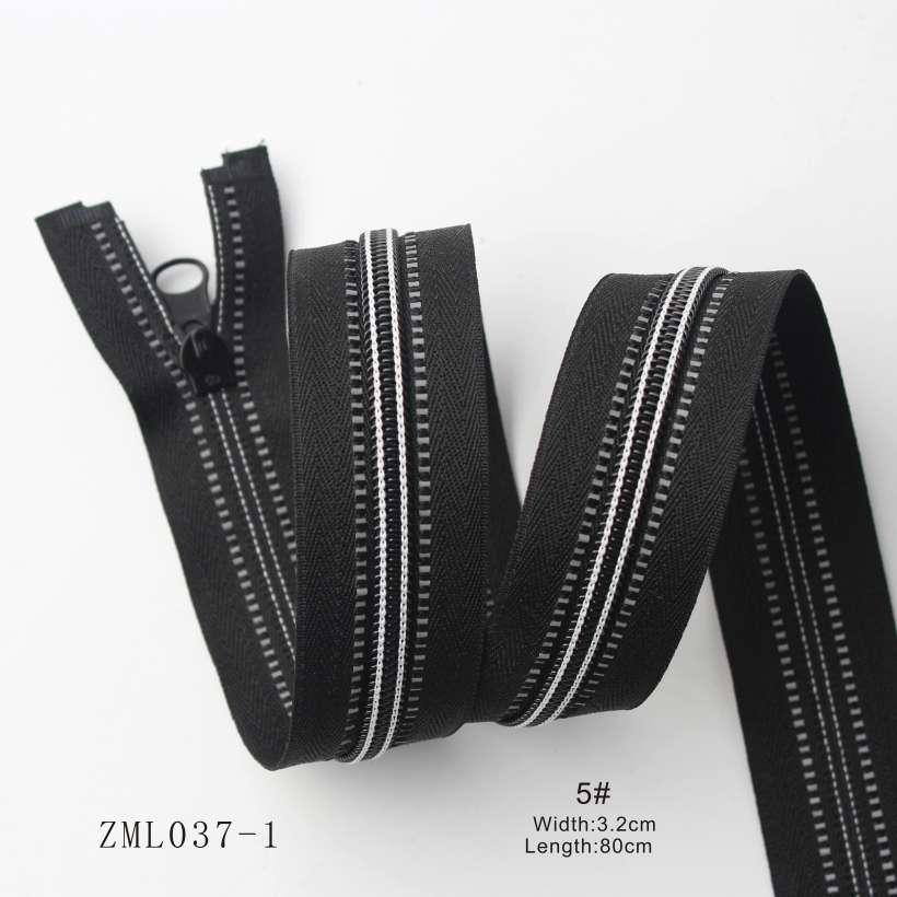 3 Special Design Multicolor Threads Woven Open End Nylon Zipper