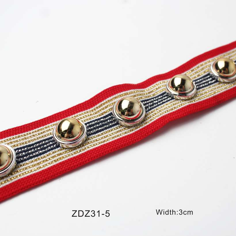 Knitted Rivet Decorative Webbing
