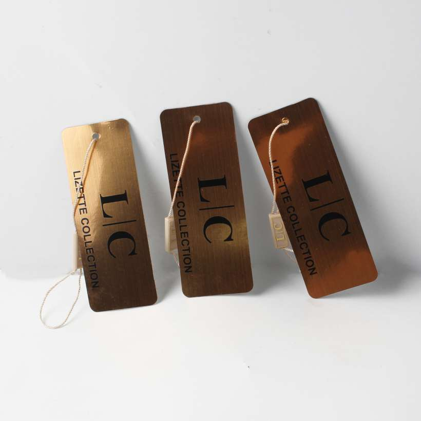 gold color swing tags