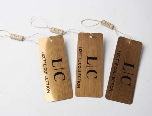 High Quality Gold Color Garment Swing Tags, OEM/ODM Hang Tags