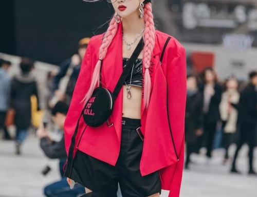 In Front Of High-Energy, China, South Korea And South Korea Fashion Week Street, Shoot Battle, I Choose One-Click Copy