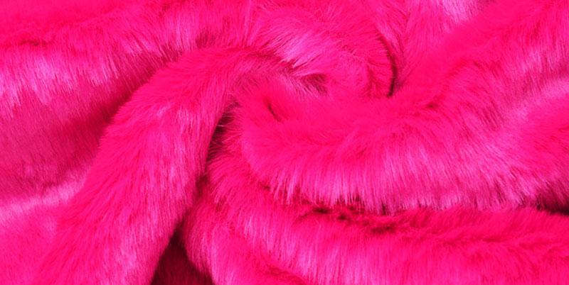 Red Fur Faux Fur Fabric