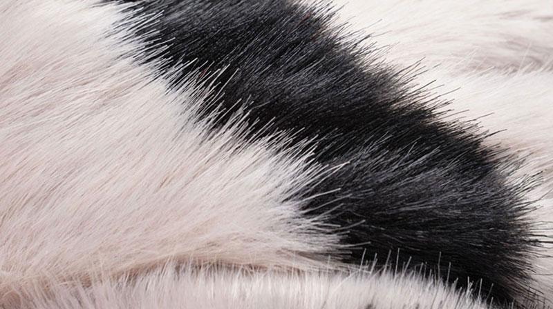 Striped Pattern Fur Faux Fur Fabric