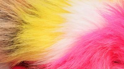 Color Collage Fur Faux Fur Fabric
