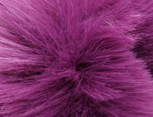 Purple Fur Faux Fur Fabric