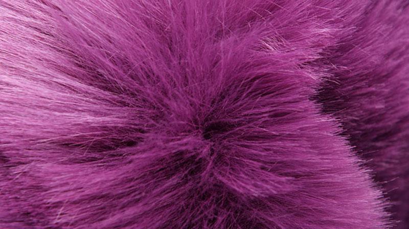 Purple Fur Faux Fur Fabric