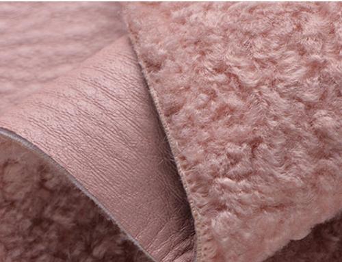 Men's Women's Red Fur Faux Fur Faux Fur Fabric