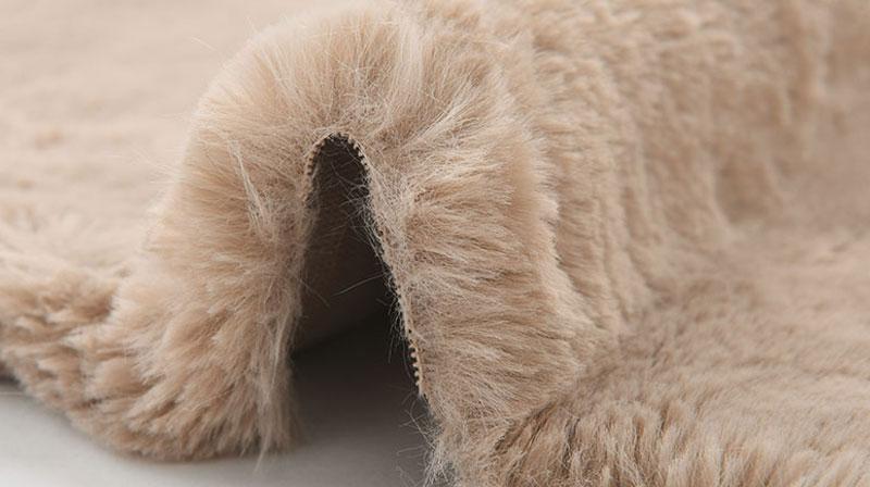 Achromatic Fur Faux Fur Fabric