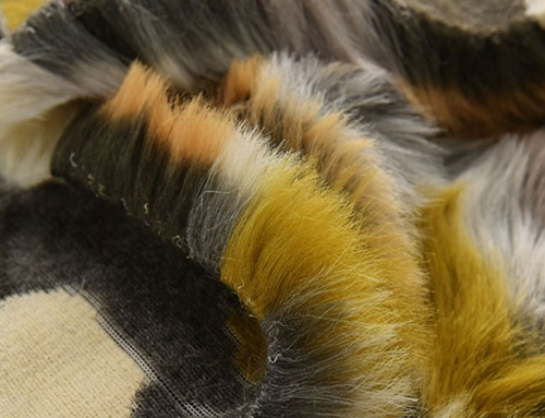 Color Collage Fur Faux Fur Fabric